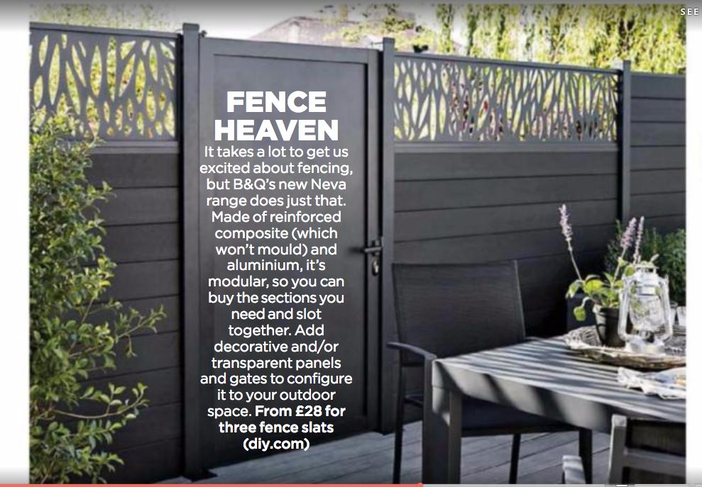 B Amp Q Neva Fence System Patio Mood Q Garden Garden