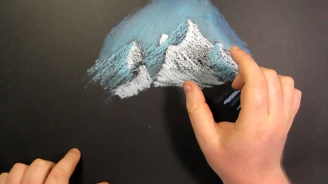 Tips And Tricks How To Draw Mountains With Oil Pastel Oil Pastel Landscape Oil Pastel Mountain Drawing