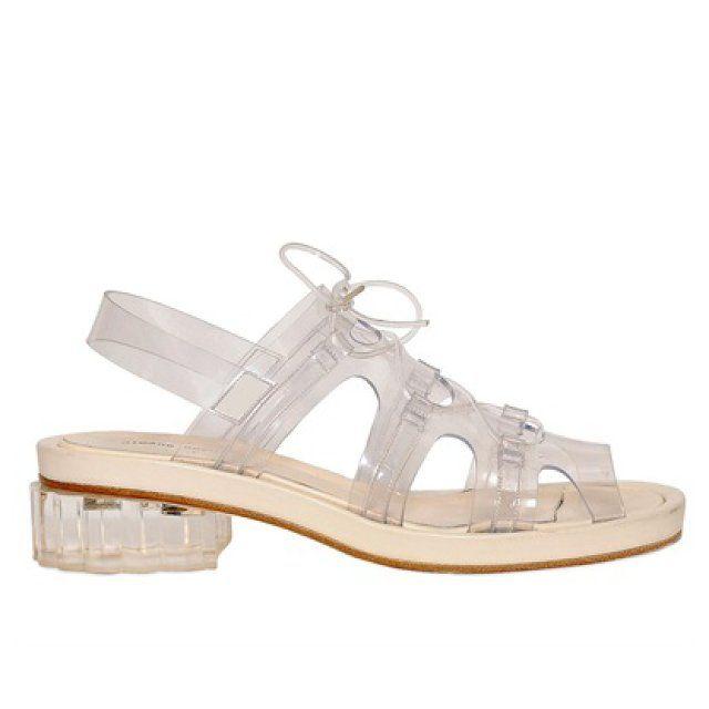 Simone Rocha leather and PVC sandals, $1,146  luisaviaroma.com