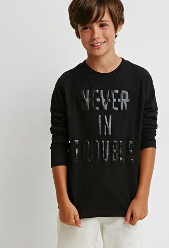 Never In Trouble Tee Kids Forever 21 Boys