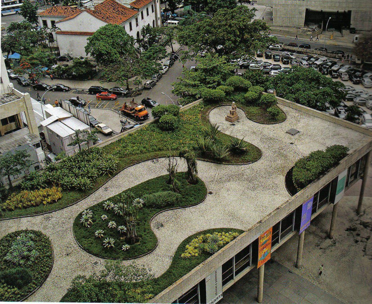 Burle marx techos verde green roofs pinterest for Spaces landscape architecture