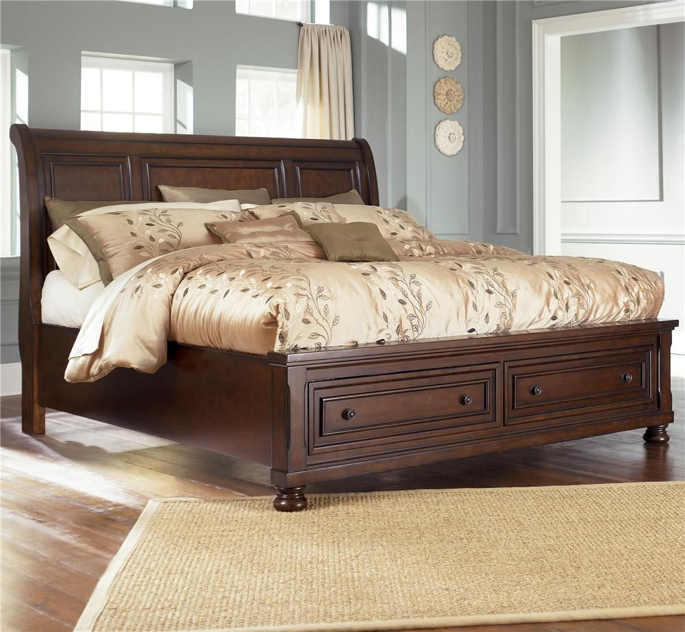 Porter King Storage Bed Queen Size 699 99 By Ashley Furniture At Wayside Furniture King Storage Bed King Bedroom Sets King Sleigh Bed