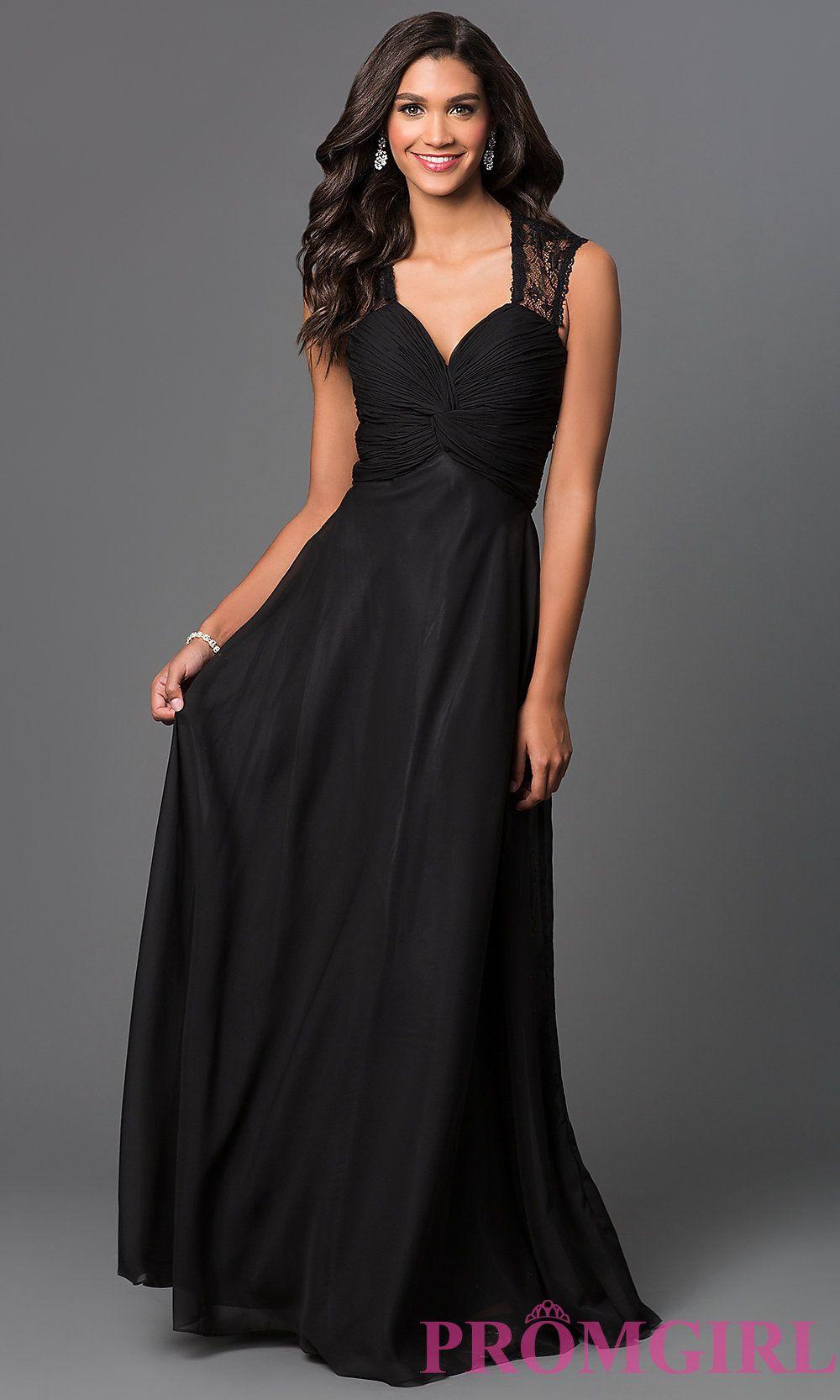 Image of long sleeveless lace-back dress Front Image   Fashion ...