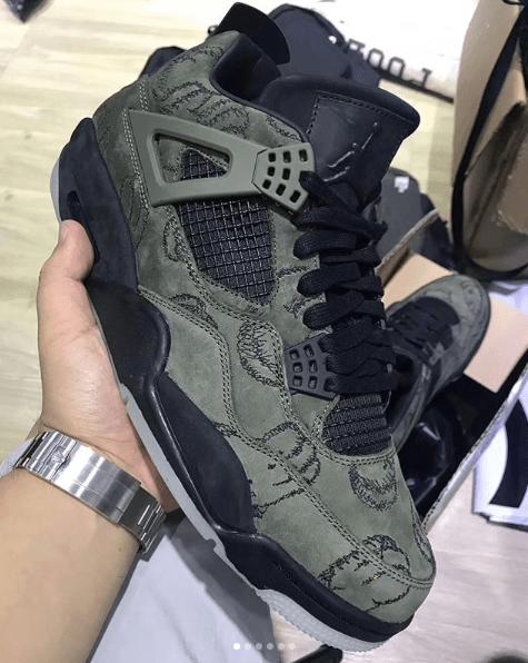 Air Jordan4 × Kaws Black releasing in 2018 Spring Summer.  c789e5686