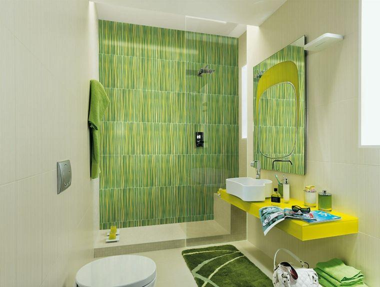 Azulejos para ba os modernos cien ideas geniales - Decoraciones de cuartos de bano ...