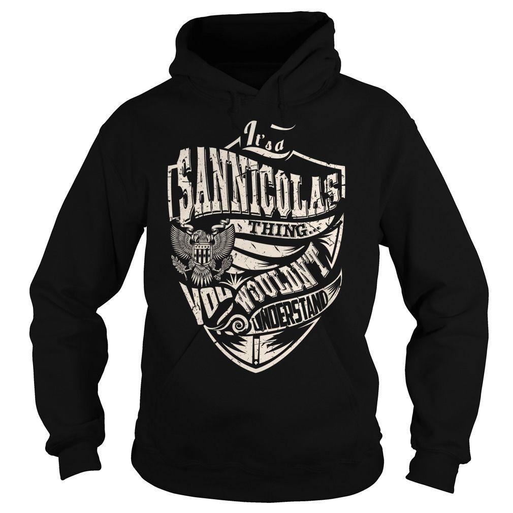 Its a SANNICOLAS Thing (Eagle) - Last Name, Surname T-Shirt