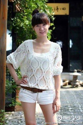 Blouse En Crochet, Dentelles Au Crochet, Bonnets En Crochet, Crochet  Irlandais, Blouses Pour Femmes, Vêtements En Crochet, Style De Crochet, Pull,  ... b9f2c7253dd3