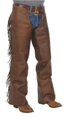 3846d3742a Cowboy Basic Shotgun Chaps With Fringe