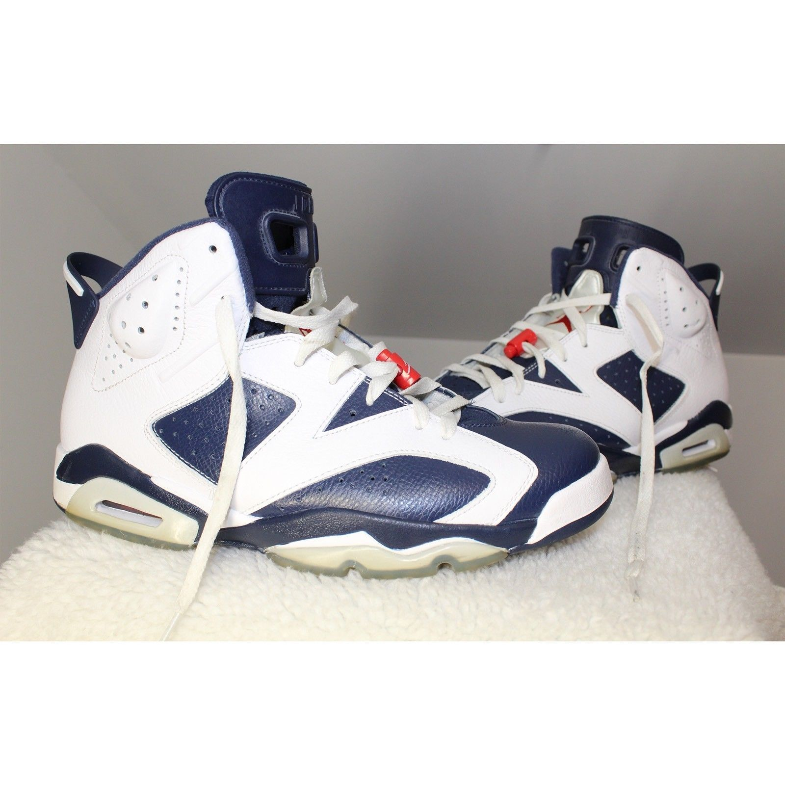 the latest c661b f8087 Nike 2012 Air Jordan 6 VI Retro Size 11 Olympic Navy Red 384664-130