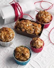 These tiny fruitcakes will bring joy to everyone on your list. For gifts, bake the cakes in decorative paper liners from supermarkets or baking stores, wrap in parchment, and tie with ribbon or twine.