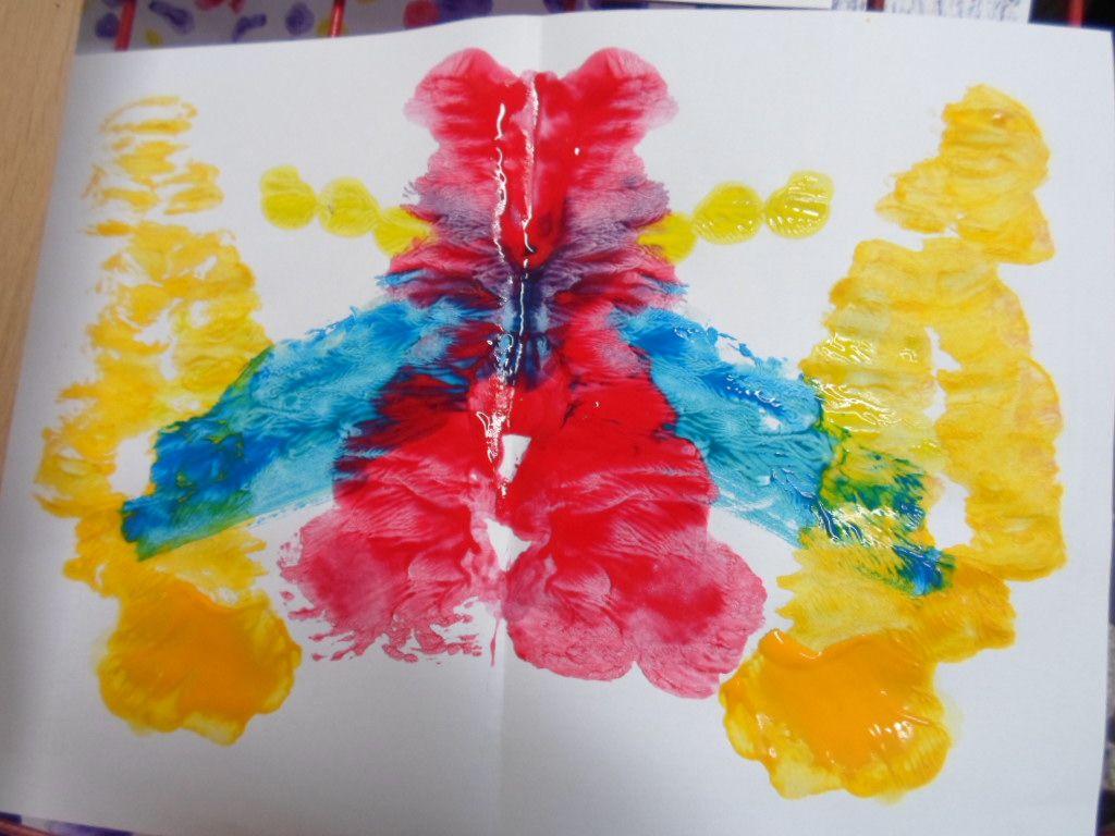 Klatschbilder Mit Farbe Und Faden Kreativ Kreatives Gestalten Geschenke