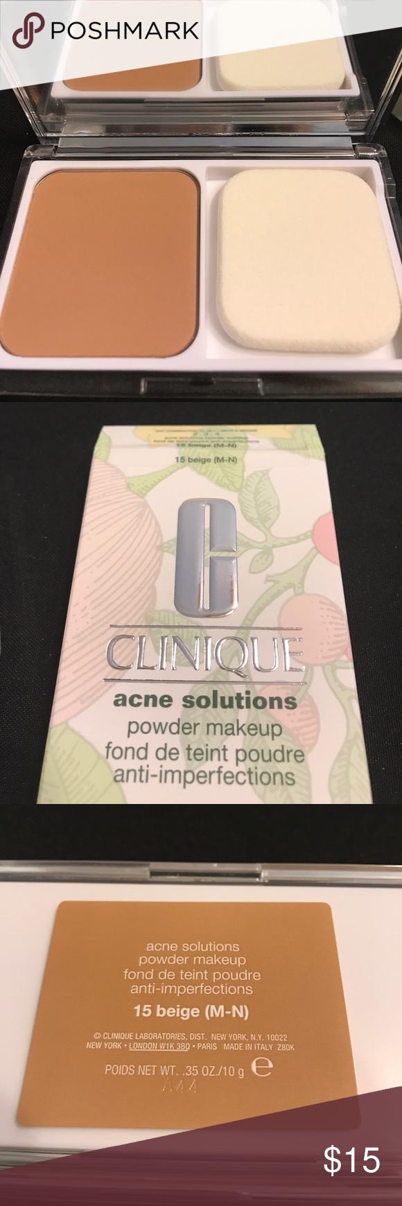 Clinique 15 Acne Solutions Powder. New Beige MN Clinique