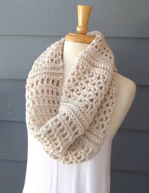 PATTERN C-080 / Crochet Pattern/ Clarice Cowl ... worsted 300 yards ...
