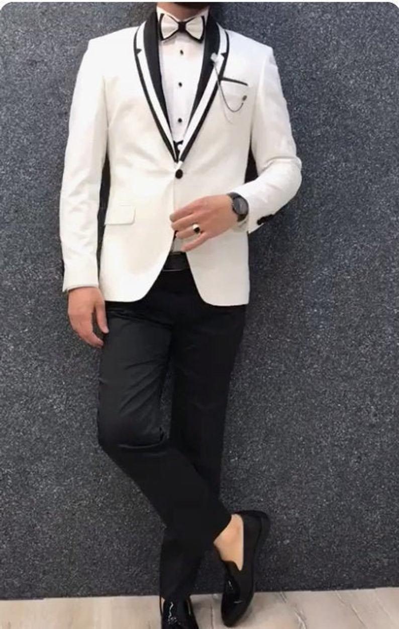 Tuxedo Suits, Men Suits, White Tuxedo for Men with