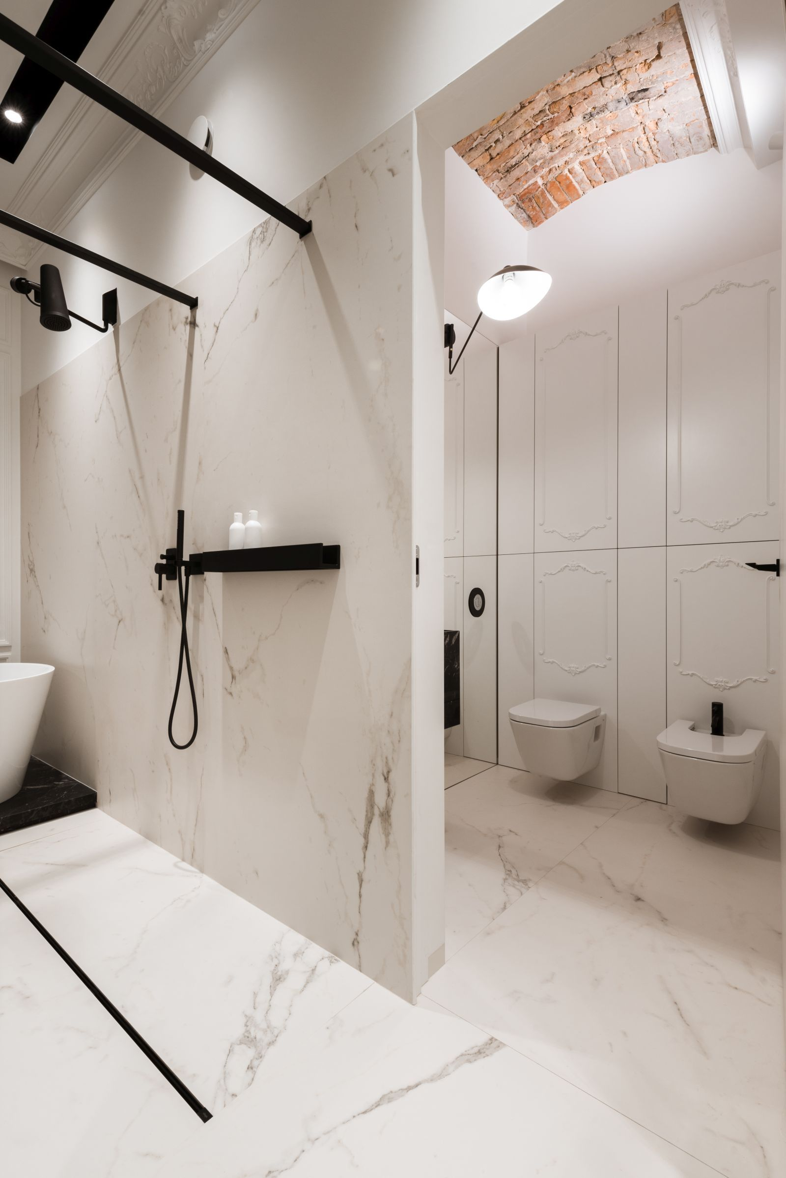 Nowoczesna łazienka W Kamienicy Z Marmuru Bathroom