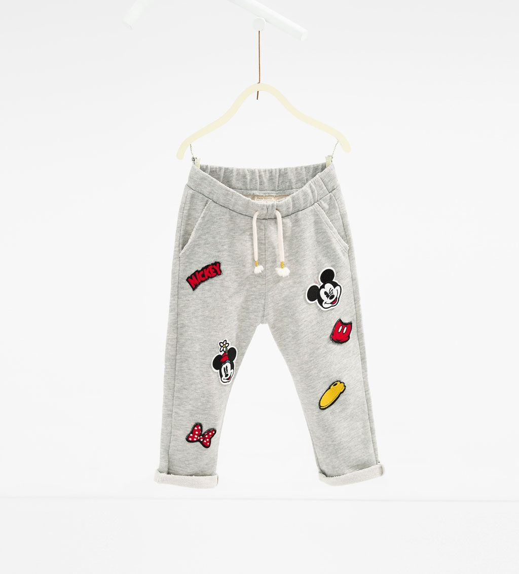 851dbc1efac98 Disney patch trousers-LEGGINGS AND TROUSERS-Girl-Kids | 4-14 years-KIDS |  ZARA United States