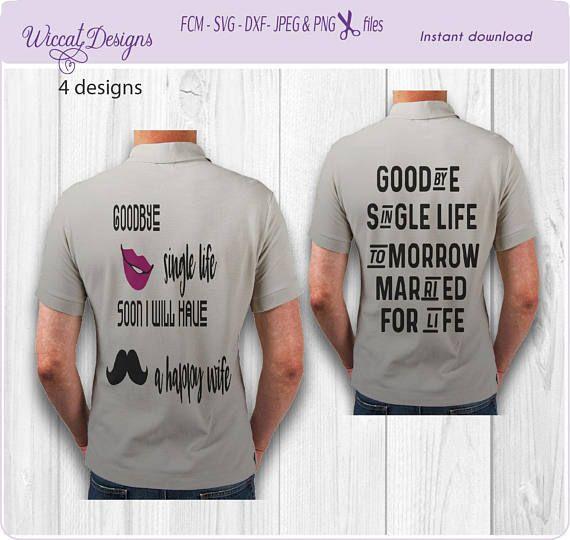 Ongebruikt Bachelor groom shirt, men svg, Bachelor svg, Groom svg, Single BA-18