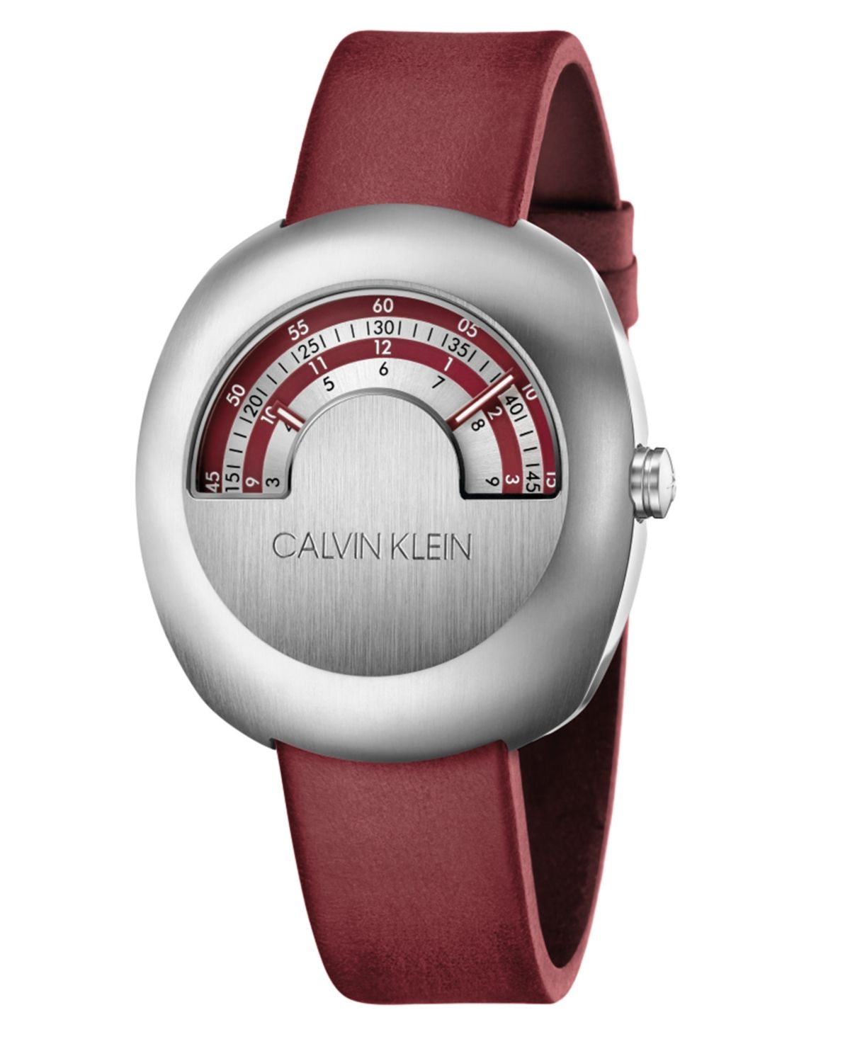 Photo of Calvin Klein Unisex Glimpse Red Leather Strap Watch 45mm & Reviews – All Fine Jewelry – Jewelry & Watches – Macy's