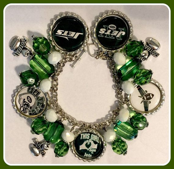 New York Jets Charm Bracelet Sports & Themed by SportsnBabyCouture
