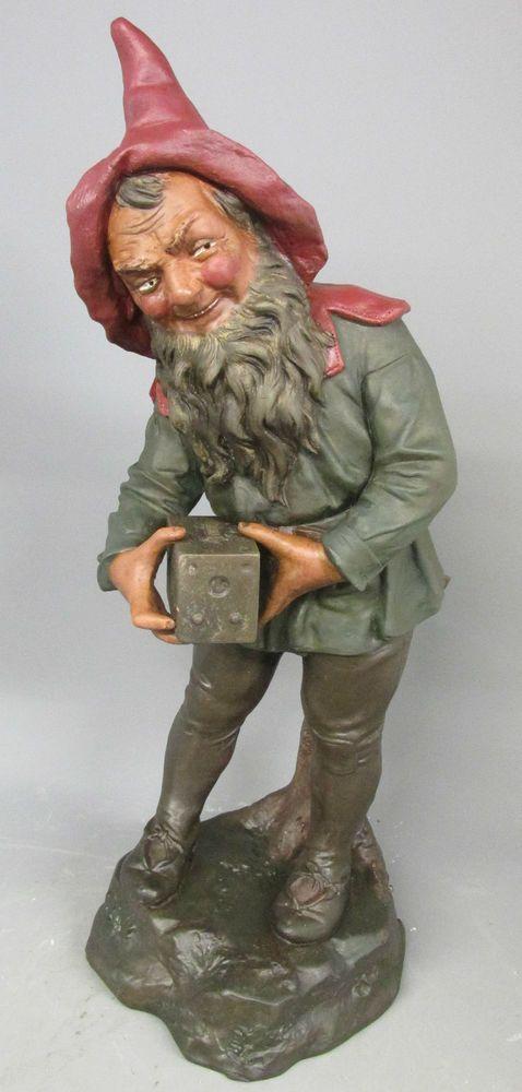 Rare Large Antique Johann Maresch Camera Box Brownie Gnome Zwerg Gartenzwerge Gnomes Gnome Statues Fairies Elves