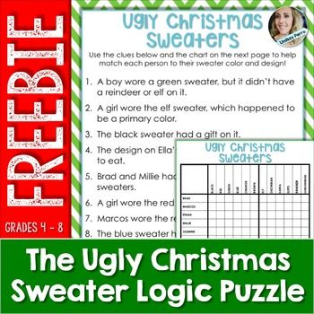 Christmas Logic Puzzle Activity Christmas Resources Activities