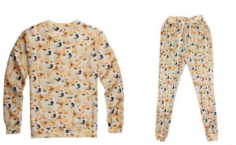 Popular Doge Wow Such Face Much Meme Dog Reddit Hoodie Pants