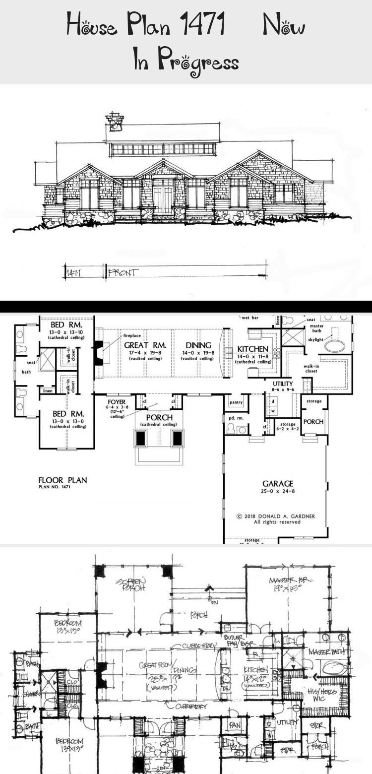 Conceptual House Plan 1471 Features A Modern Ranch Exterior With A Thoughtful Floor Plan That Brings In Natura Floor Plans Ranch House Plans Modern Floor Plans