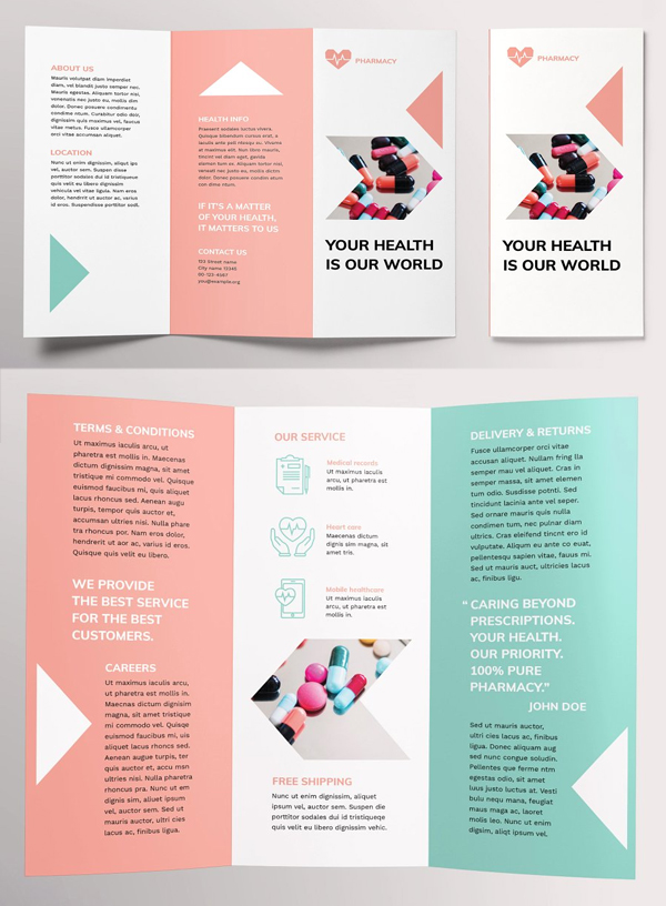 25 Professional Trifold Brochure Templates For Inspiration Brochure Design Layout Brochure Design Template Trifold Brochure