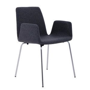 Duane Chair Charcoal Wool