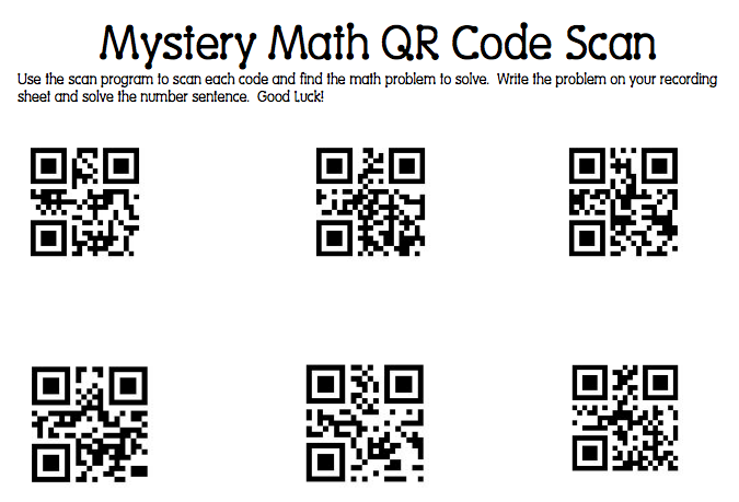 Swamp Frog First Graders: Mystery Math QR Code Scanning