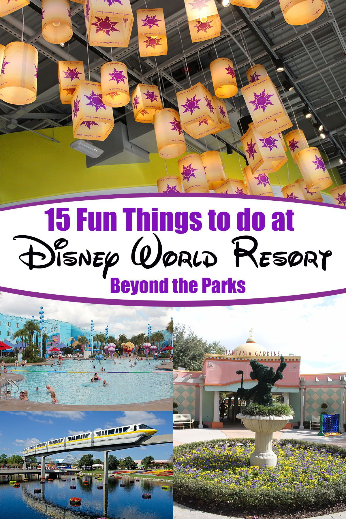 15 Fun Things to do at the Disney World Resort in Orlando Resort other than the amusement parks. Great