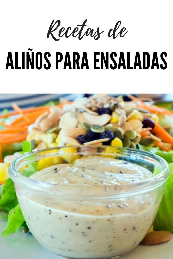 Salsas y aliños para ensaladas