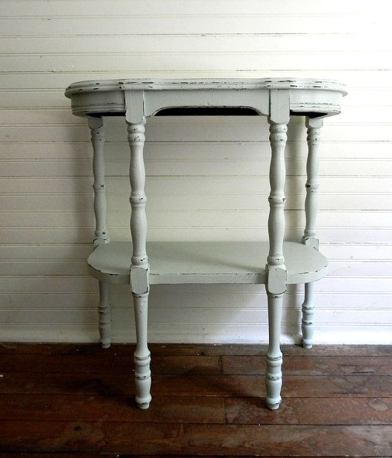 Vintage Half Round Table Shabby Chic By Carolinavintageco 55 00