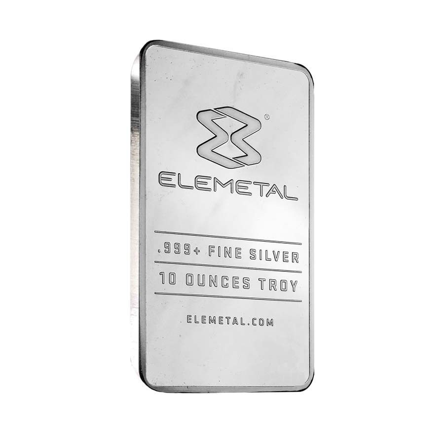 Elemetal Mint 10 Oz Silver Bar 999 Fine Sealed Silver Bars Silver Silver Bullion