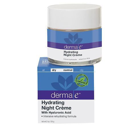 Derma E Dry/Normal with Hyaluronic Acid Hydrating Night Creme, 2 Oz Nature Republic Forest Garden Chamomile Cleansing Oil, 200 ml / 6.76 fl oz