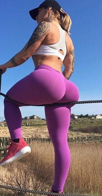 Quick bbw booty in pattern leggings