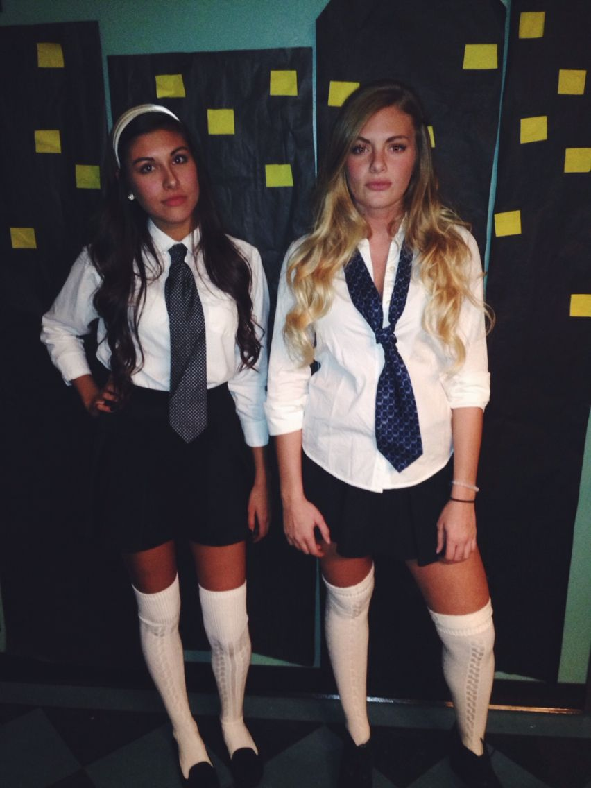 serena van der woodsen and blair waldorf in school uniforms costume halloween inspiration. Black Bedroom Furniture Sets. Home Design Ideas