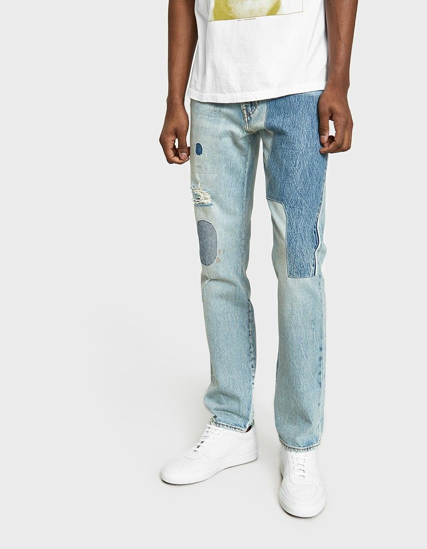 1faafe00 Slim fit jeans from Levi's in Patch Up. Light blue wash. Mid rise. Zip fly  with branded top button closure. Five-pocket styling. Branded buttons.
