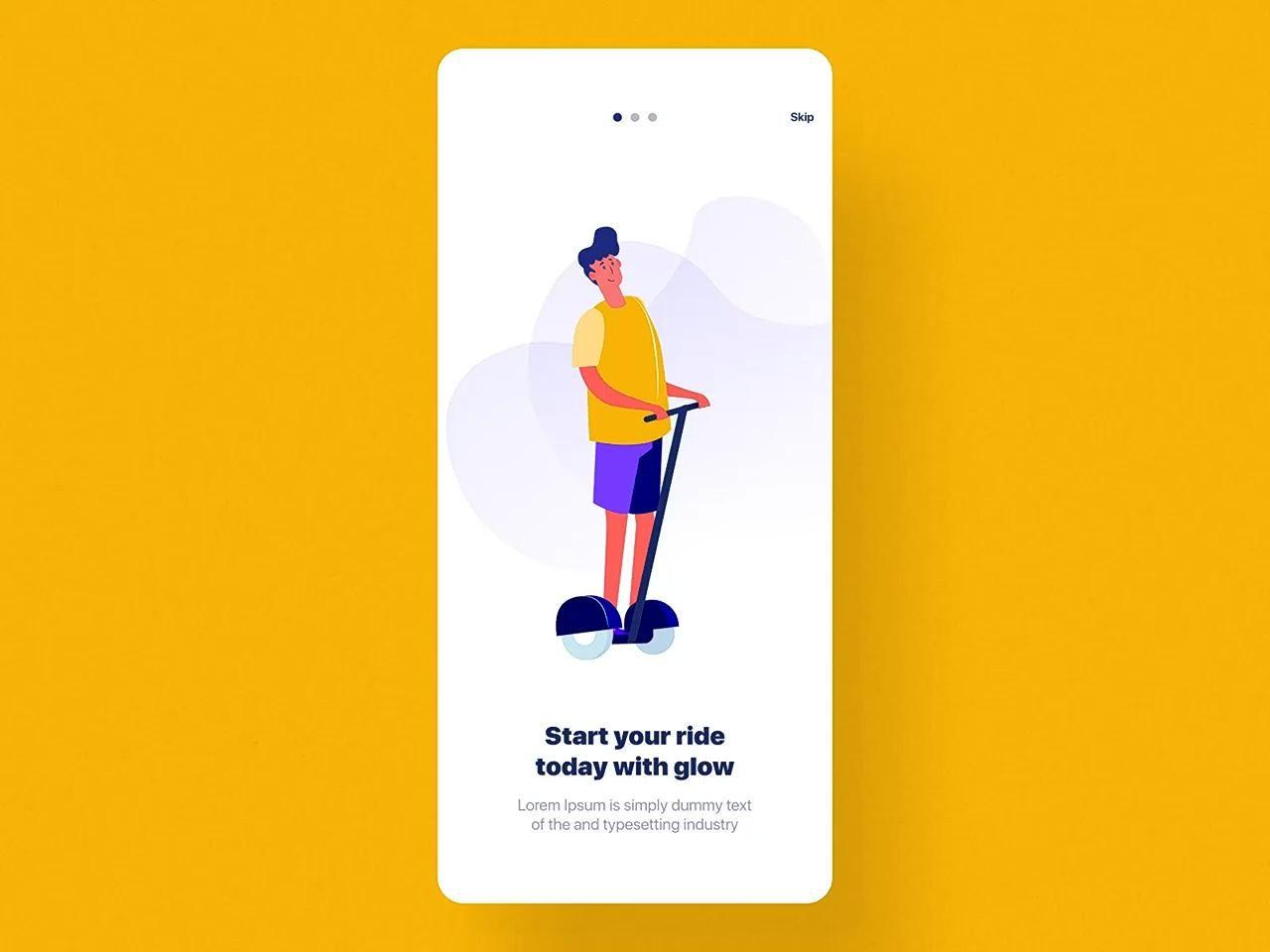 Glow Scooter Rental App Ui Kit By Ramonyv