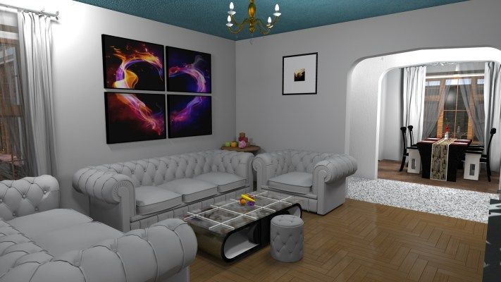 Sitting Room Of Three Bedroom Bungalow House Design In Kenya In 2020 Bungalow House Design Three Bedroom House Plan Three Bedroom House