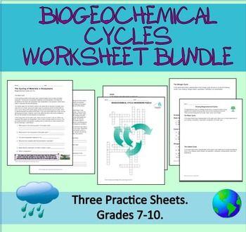 Ecology Worksheets Biogeochemical Cycles Bundle Teaching