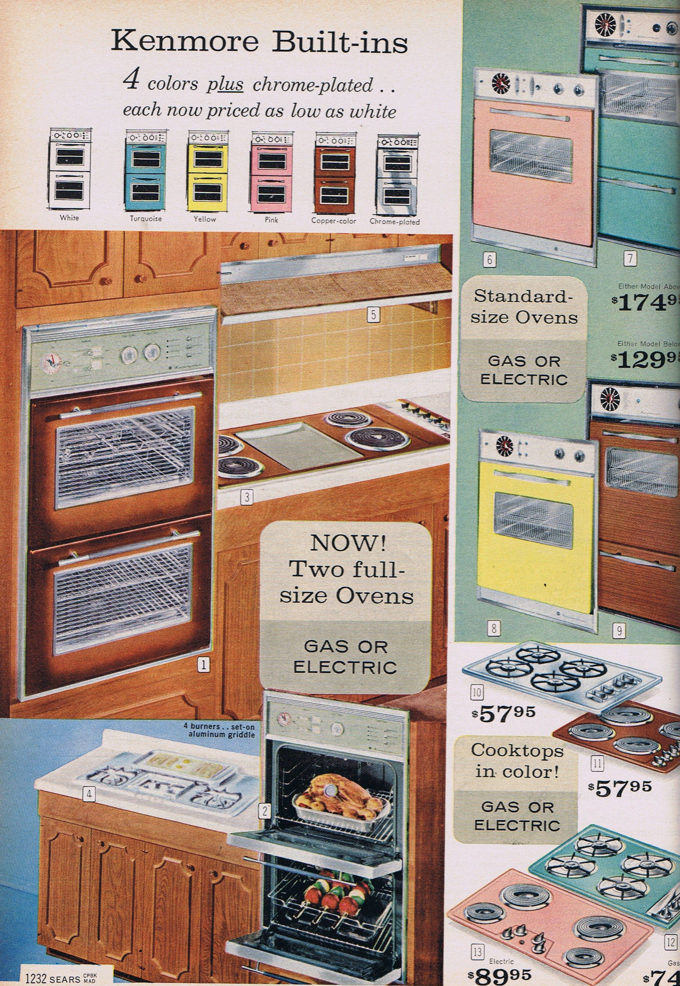 Kenmore Built-In Ovens and Ranges - Sears,1963 ... wonderful ...