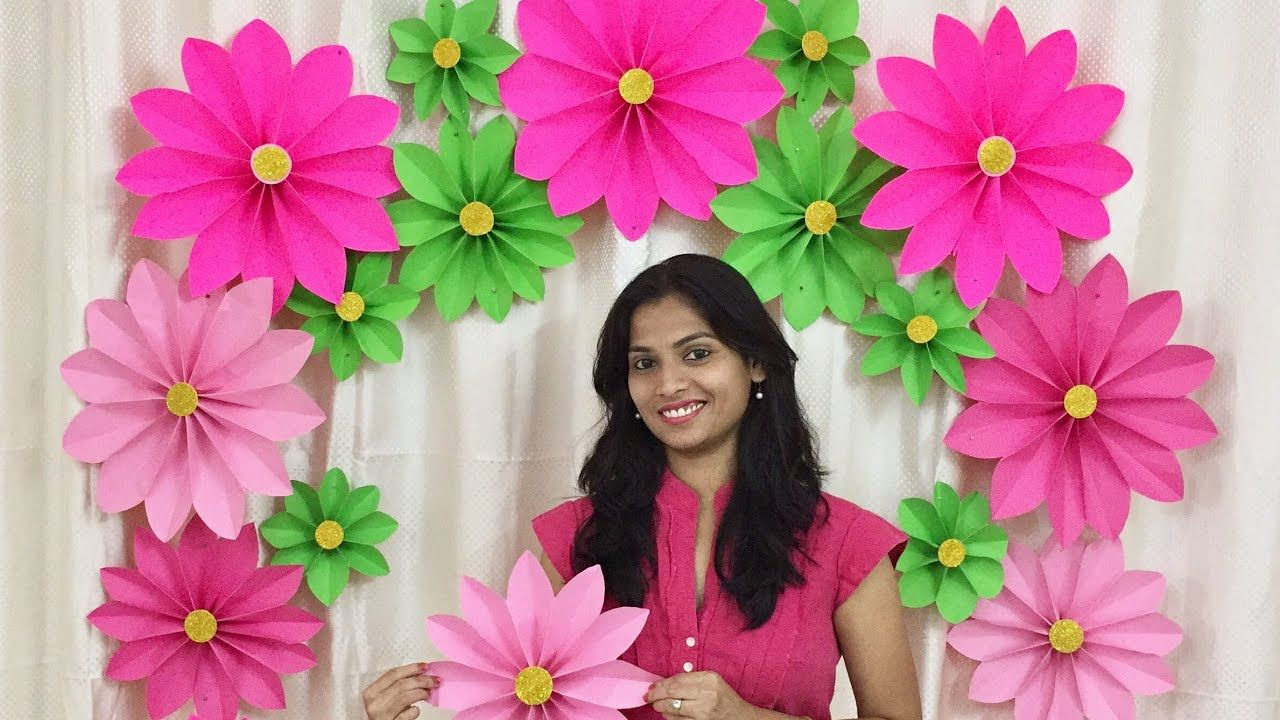 Very Easy Paper Flower Decoration At Home Decoration Ideas For