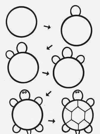 How To Draw Turtle Step By Step Cute