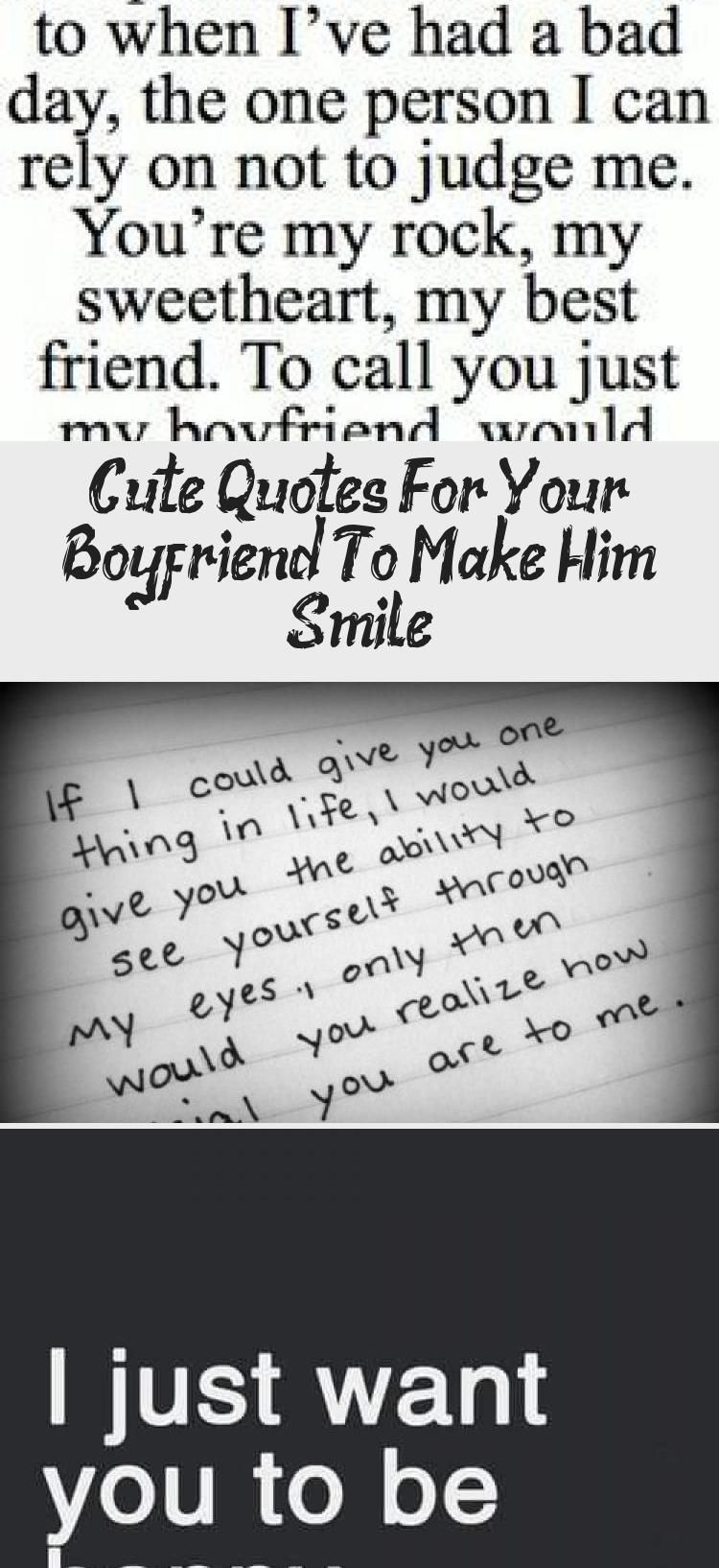 Cute Quotes For Your Boyfriend To Make Him Smile Cute Love