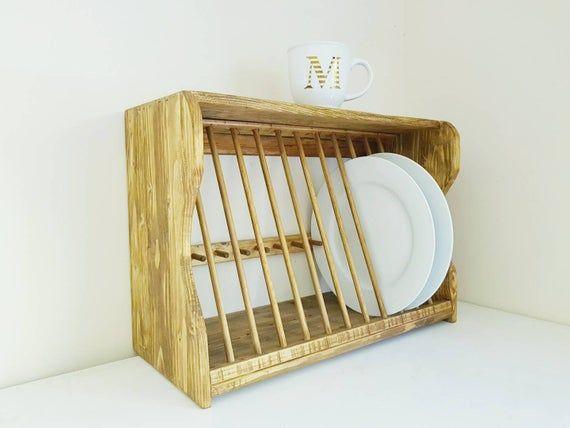 Plate rack, kitchen plate rack, plate storage, wooden plate rack #plateracks