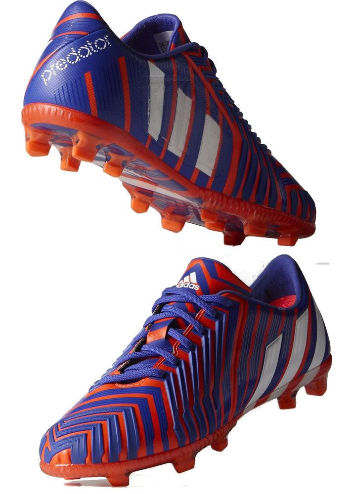 5c9bfd26cc91 Football boots shoes Adidas Cleats Predator Instinct FG 2015 Men Red Blue.