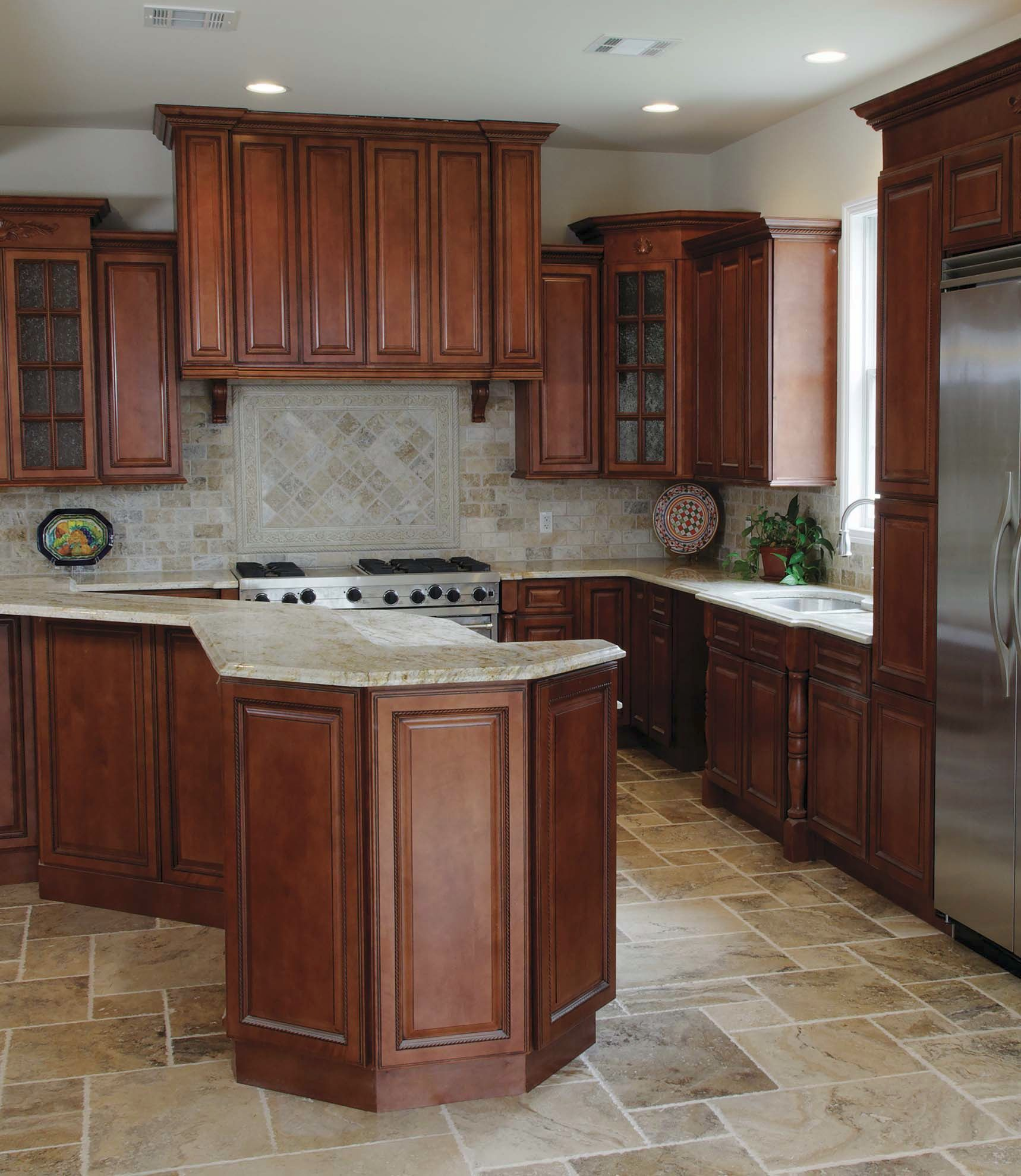 Rta Kitchen Cabinets Online: Nutmeg Twist #Kitchen Cabinets