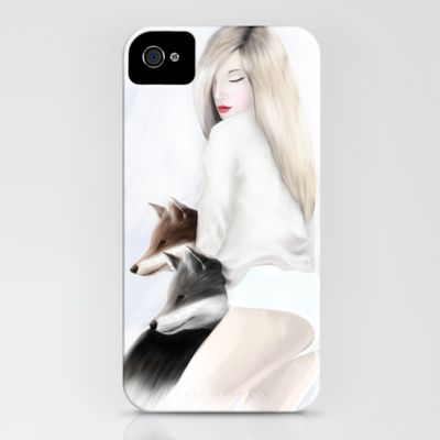 women_fox iPhone Case by wit_art - $35.00