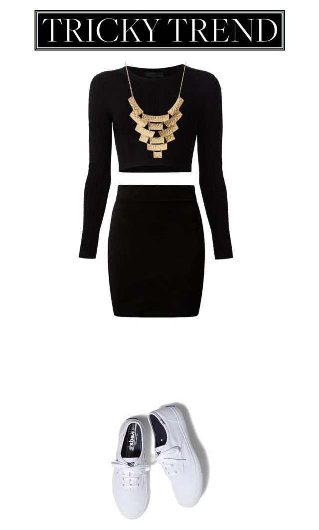 """""""Tricky Trend: Sneakers"""" by woahhcharli ❤ liked on Polyvore featuring мода, Cushnie Et Ochs, Charlotte Russe, Keds и TrickyTrend"""
